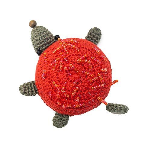 Craft Roll-Maßband gehäkelt 150cm einziehbar Bandmaß für Schneider, Kinder oder Körper Fair Trade (Igel)