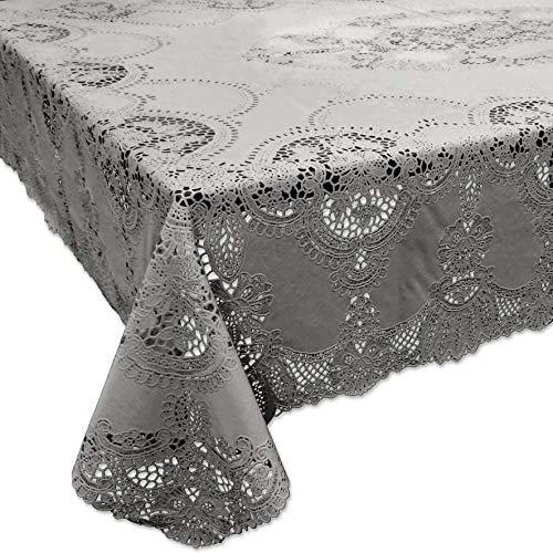 Tischdecken Amira Vinyl 137x180cm grey