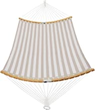 PATIO WATCHER 14 FT Quick Dry Hammock Folding Curved Bamboo Spreader Bar Portable Hammock for Camping Outdoor Patio Yard