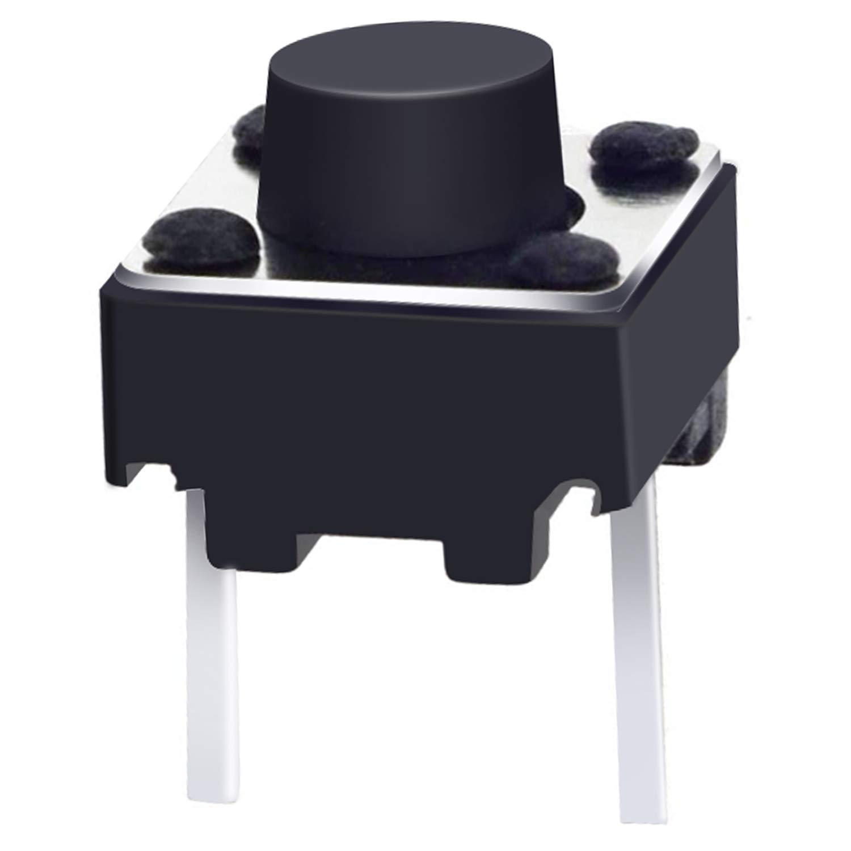 favorite Taiss 100 Pcs 6x6x5mm 2 Pin Momentary PCB Tactile Max 73% OFF Pus Tact Panel