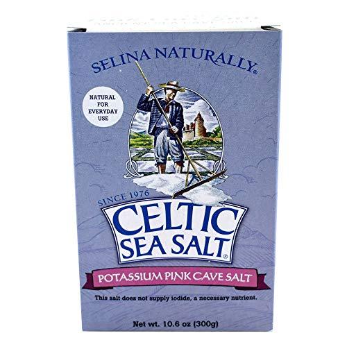 Celtic Sea Salt Pink Potassium Cave Salt 10.6 Oz (300 G) – Extra Fine Grain, Natural, Light In Sodium – For Shaker Jar, Salty, 10.6 Oz (Pack of 1)