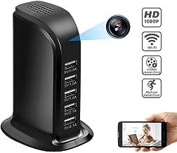 WiFi Hidden Camera Charger, Mini Spy Camera 1080P with 5 Port Plug Desktop Charging Station Charger Camera, Home Surveillance Camera,Full HD Nanny Cam
