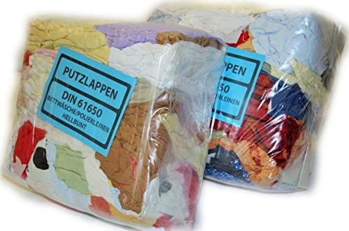 Polierleinen, Kattun aus Bettwäsche hellbunt 30 kg Industrieputzlappen Putzlappen Baumwollegeschnitten nach DIN 61650 1,00 €/kg