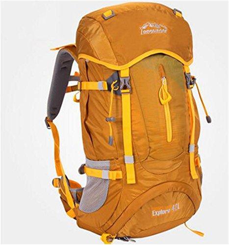 sac à dos randonnée sac de Voyage de grande capacité en plein air sac à dos d'alpinisme professionnel 42L randonnée de camping sac hommes et les femmes de l'épaule de sac à dos Sacs à dos de randonnée ( Couleur : Marron , taille : 36-55L )