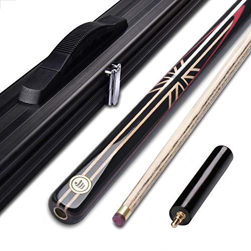 HHXD 1/2 Pool Queue Kit,Snooker Queue Stick mit 10mm Tip,Billard Queue With Butt End Extension Packed,Geeignet für Einsteiger/E / 145cm/57in