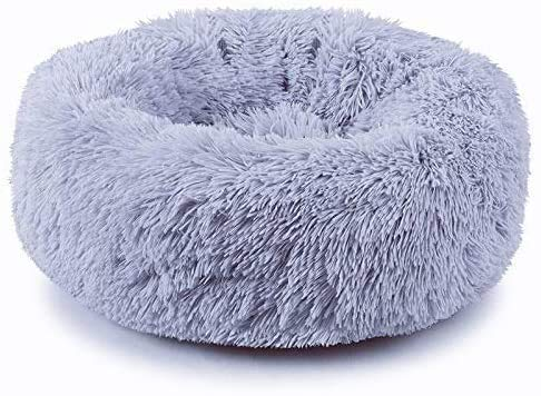 Plush Donut Pet Bed,Dog Cat Round Warm Cuddler Kennel Soft Puppy Sofa, Cat Cushion Bed Sleeping Bag...