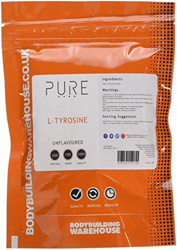 Bodybuilding Warehouse 100 g Pure L-Tyrosine Amino Acid Powder