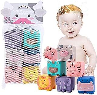 6个 发音玩具 婴儿 洗澡玩具 婴儿用球 柔软 动物 拼图 发型 蜂蜜 形状组合 早期开发 益智玩具 新生儿 玩具 积木块 圣诞节 生日礼物 出生贺礼 礼物 点击 6个(动物)进行
