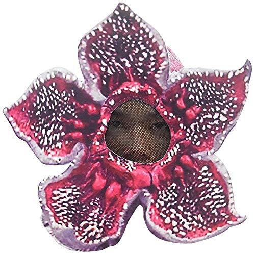 WSJDE Stranger Things 3 Man-Eater Flower Demogorgon Cosplay Costume Adult Kids Demogorgon Jumpsuits Cosplay Halloween Party Costumes M Mask
