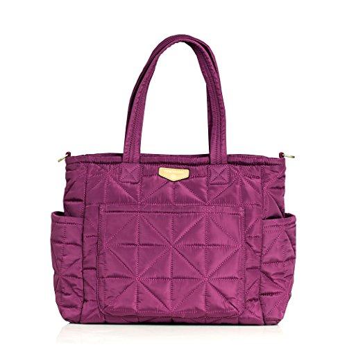 TWELVElittle Carry Love Tote Diaper Bag, Plum 1.0