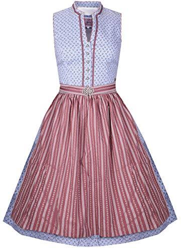 MarJo Trachten Damen Trachten-Mode Midi Dirndl Sabella in Hellblau traditionell, Größe:38, Farbe:Hellblau