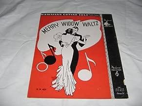 MERRY WIDOW WALTZ MANOLOFF 1937 SHEET MUSIC FOLDER 507 SHEET MUSIC