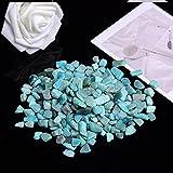 SAIBAO 50g-100g Cuarzo Natural Cristal Blanco Mini Roca Muestra Mineral Decoración del hogar Colorido para AcuarioPiedra curativa Moda Simple-Amazon Stone, 100g