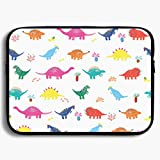 Homlife Laptop Sleeve Bag Colorful Dinosaur Funny Graphic 13/15 Inch Briefcase Sleeve Bags Cover Notebook Case Waterproof Portable Messenger Bags