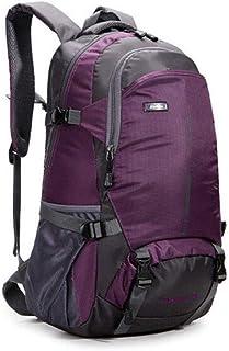 Backpack, Men Nylon Backpack Travel Bag Large Capacity Versatile Utility Mountaineering Multifunctional Backpack Luggage Bag,Purple,Stylish Great Bag