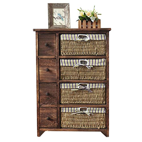 Lw plank meubelen Paulownia koolzuurhoudende kleur 5/4-laags kast ladekast met rieten manden