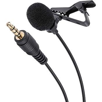 Redlemon Micrófono de Solapa Lavalier, Compatible con Smartphone y Tablet, con Condensador Omnidireccional, Cable de 1.5 Metros y Extensión hasta 3.5 m, Conector 3.5mm de Audífono, para Entrevistas
