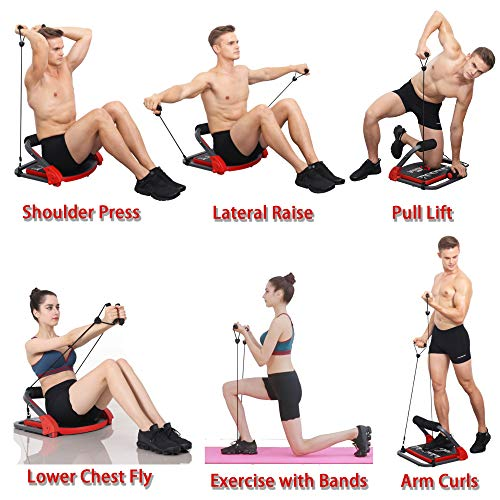 Product Image 6: eHUPOO Ab Machine Abs Workout Equipment, Abs and Whole Body Exercise Equipment for Home Workouts,Core Strength Training&Abdominal Exercise Trainers With Resistance Bands for Home Gym.USA Patented
