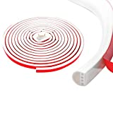 Qishare Tira de Silicona Tira de Sellado de Diseño de Múltiples Orificios Para Puertas y...