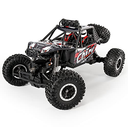 MIEBELY Rock Crawler – RC Rock Crawler 4x4 – Remote Control Car for Adults and Children – High Speed and Rock Climbing RC Crawler – 1:16 Scale High Speed Climbing Car – 75 Degrees Climbing Angle