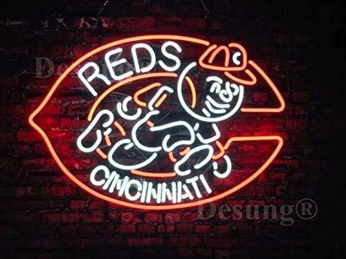 Amymami Beer Max 56% OFF Bar New 24inx20in Cincinnati Team S Regular dealer Neon Red Sports