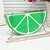 Frauentasche Abendtasche Wassermelone Zitrone Frucht Acryl Tasche Bogen Kleine Damen Abendtasche Patchwork Clutch Picturecolor1