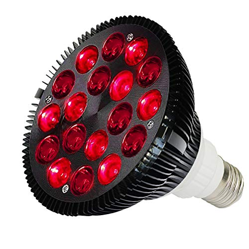 Rote therapie glühbirne,36 W Lichttherapie Lampe,18 LED Infrarot Lichttherapiegerät, Nah-Infrarot-Combo rotlichtlampe led für Spa, Hautpflege, Muskel- und Gelenkschmerzen