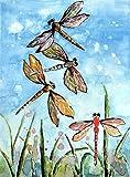 Beaxqb Kit de Pintura por Números Acrílica Libélula de Color DIY Pintura al óleo para Niños y Adultos Principiantes Lona decoración de hogar 30x45cmSin Marco