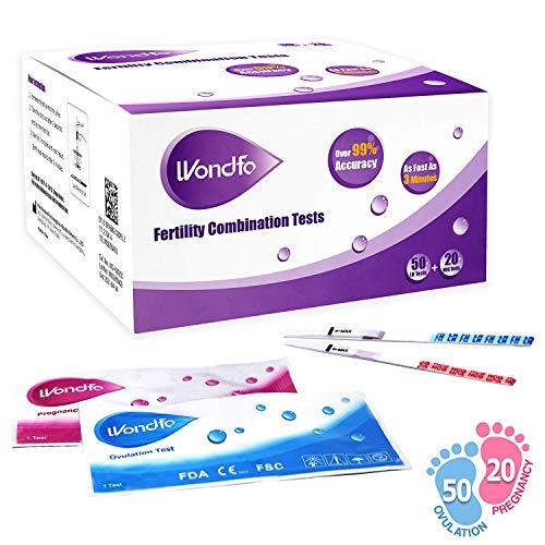 Wondfo 50 Ovulation Test Strips and 20 Pregnancy Test Strips Kit -...