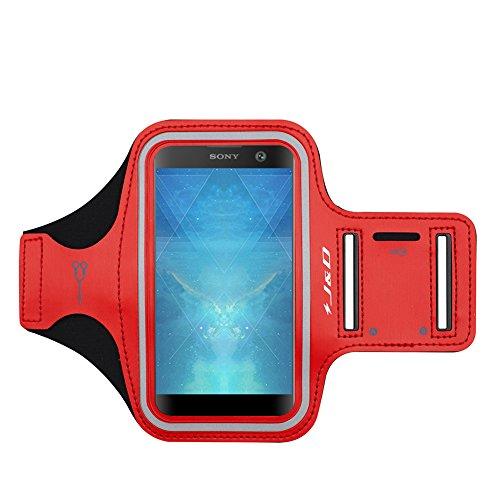 J&D Compatibile per Sony Xperia 5 III/Xperia 10 III/XA3/XA2/Xperia 10/Xperia L3/L2/L1 Fascia da Braccio Sportiva, Bracciale con Portachiavi Slot, Connessione Auricolare Perfetta