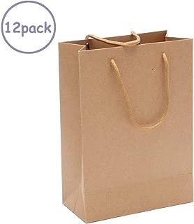 12 Pack Brown Kraft Paper Bags Bulk with Handles,7.87