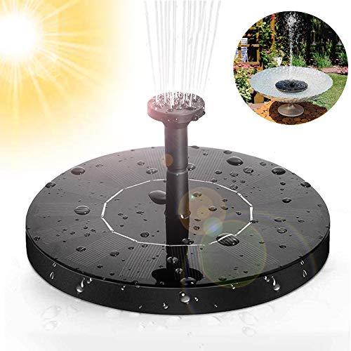 massway Solar Springbrunnen, Solar Teichpumpe Garten Solar Wasserpumpe mit 1.4W Monokristalline Solar Panel, Solar schwimmender Fontäne Pumpe für Garten, Vogel-Bad, Teich, Fisch-Behälter