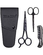 Skäggsax/nässax/mustasch kam multifunktions grooming kit presentset skägg trimning saxkit trimning nasalt hår för män med förvaringsväska