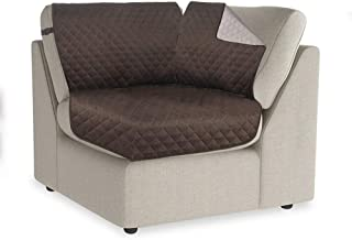 RHF Reversible Sectional Couch Covers Corner,30 Inchx30 Inch Couch Cover Corner,Washable Furniture Protector, Sofa Cover for Dogs,Sectional Corner(Sectional Corner: Chocolate/Beige)