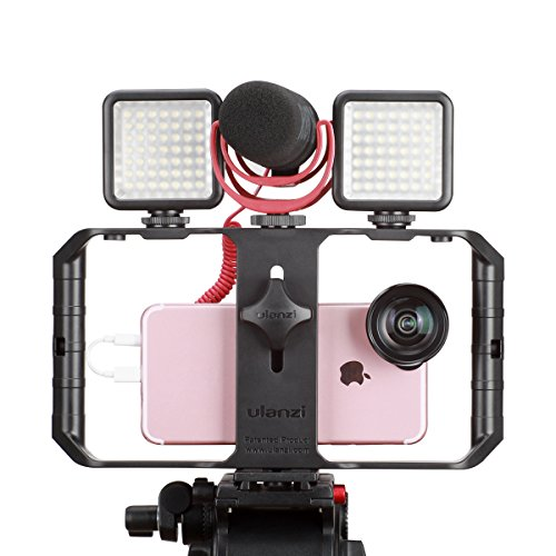 Ulanzi U Rig Pro Smartphone Video Rig, iPhone Custodia Filmmaking Case Phone Video Stabilizzatore Grip Treppiede Mount per Videomaker Film-maker Videografo per iPhone X 8 Plus Sumsang