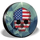 Beth-D Cubierta del Neumático De Repuesto Bandera Cráneo Remolque Camión RV Cubiertas De SUV Viaje Universal 14-17inch