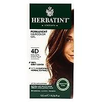 Herbatint Permanent Herbal Haircolour Gel 4D Golden Chestnut -- 135 mL by Herbatint [並行輸入品]