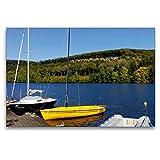 CALVENDO Premium Textil-Leinwand 120 x 80 cm Quer-Format Kronenburger See, Leinwanddruck von UDO Haafke