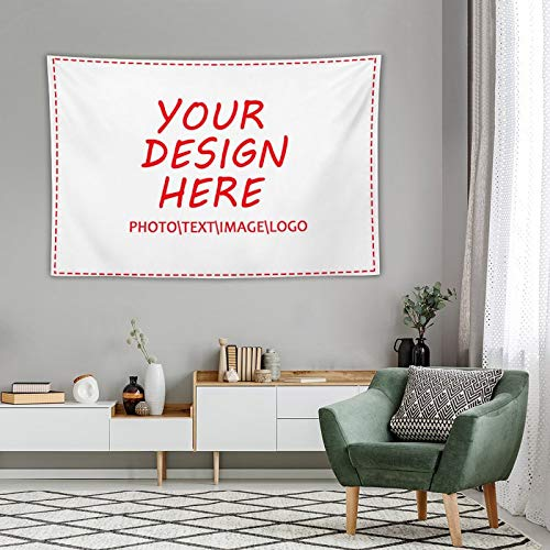 CTDream Custom Your Own Tapestries from Photos Personalized Wall Tapestry Multi-purpose with 5 Sizes Men Women College Student Home Dormitory