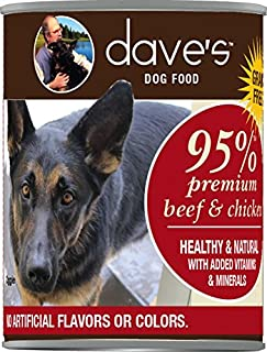 Dave'S Premium Beef & Chicken 95% Meat For Dogs, 13 Oz Can (Case Of 12 )