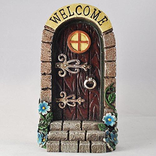 Prezents.com Anthony Fisher Elfen-/Feen-Tür mit Aufschrift Welcome, Gartendekoration,lustiges Geschenk