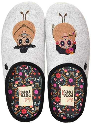 HOT POTATOES Freital, Pantuflas Mujer, Color, 36 EU