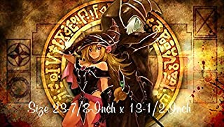 #14 - Yu-gi-oh Dark Magician Girl PLAYMAT, Yu-gi-oh Dark Magician Dark Magician Girl Play mat | Custom Play mat | Size 23-7/8-Inch x 13-1/2-Inch (AArt)