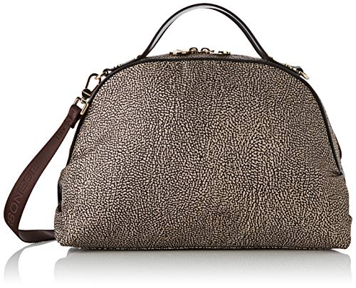 Borbonese Sexy Bag Medium C/t, Borsa a Mano Donna, (Op Classico/Marrone), 36x24x16 cm (W x H x L)