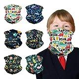 Generic Schlauchschal Kinder 6 Stück Loop Schal Kinder Multifunktionstuch Bandana Elastische Schlauchtuch für Jungen Mädchen