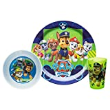 Nickelodeon PWPB-0392-B Kids Dinnerware Sets, 3 Piece, Paw Patrol Boy
