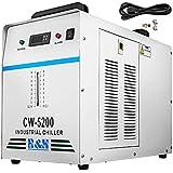 VEVOR Enfriador de Agua Refrigerado Industrial 220V CW-5200DG para Tubo Láser de CO2 130/150W, Enfriador de Tubo Láser de Vidrio CO2 con Termostato Preciso, Tanque de Enfriamiento de 6L