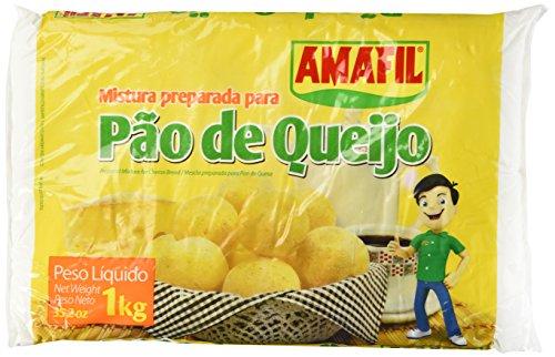 Amafil - Quick cheese Bread - Mescla Preparada p/ Pan de Queso 1 Kg | Mistura Preparada p/ Pão de Queijo 1 Kg, cheese, 2 Count, 35.2 Ounce