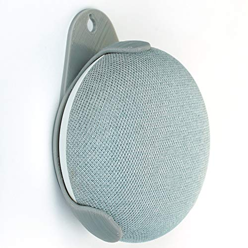 Soporte de pared para altavoz inteligente Google Home Mini (gris)