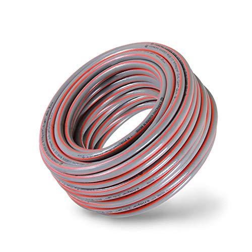 LYY Tubo da Giardino da 1 Pollice di Diametro, Tubo in Gomma antigelo, Design Anti-Kink, Resistenza al Calore e all'abrasione, 3 Strati di Parete del Tubo (5-50m),5m